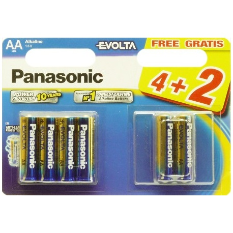LR6 4+2 BL Panasonic EVOLA